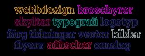 grafisk design - logotype - broschyr